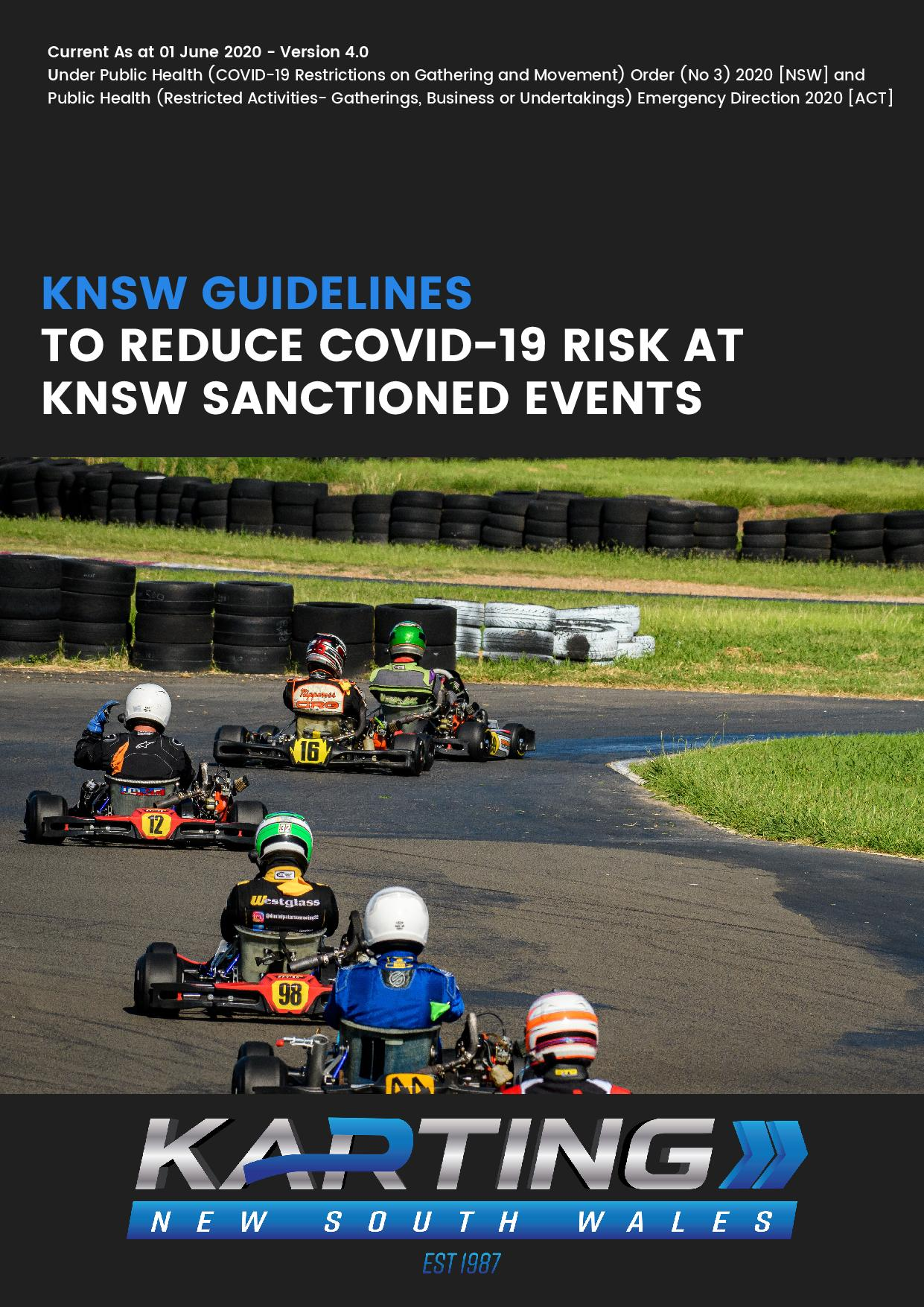 Karting New South Wales COVID-19 Guidelines