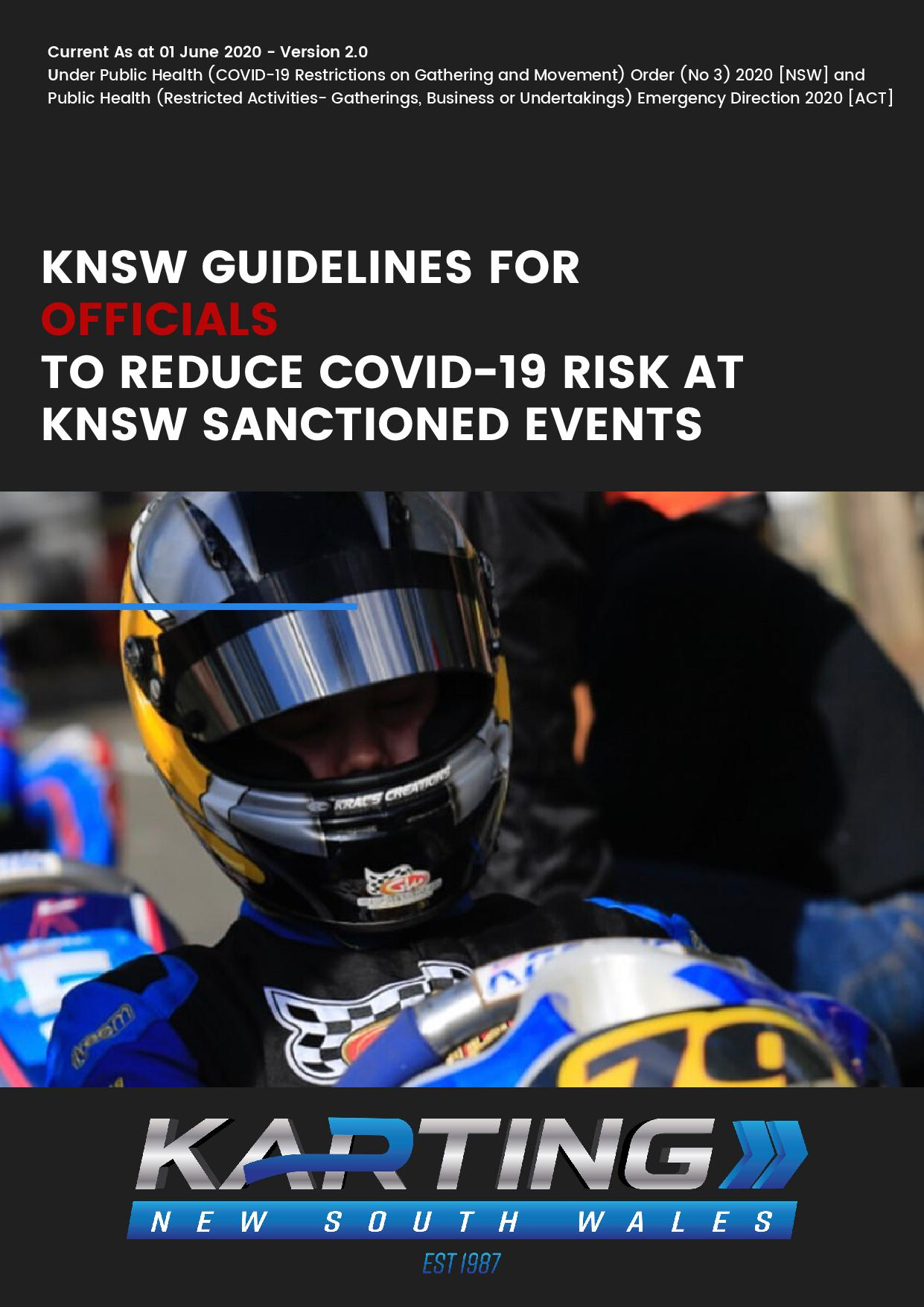 Karting New South Wales COVID-19 Guidelines for Officials