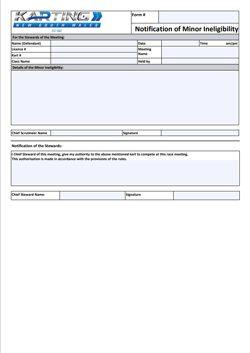 Notification of Minor Ineligibility