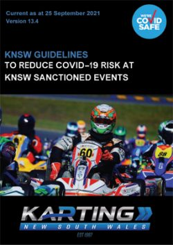 KNSW COVID-19 Guidelines v13.4 Updated 25 September 2021.